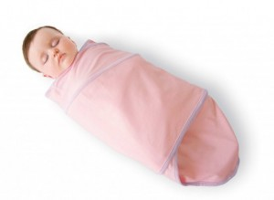 Swaddling a newborn baby