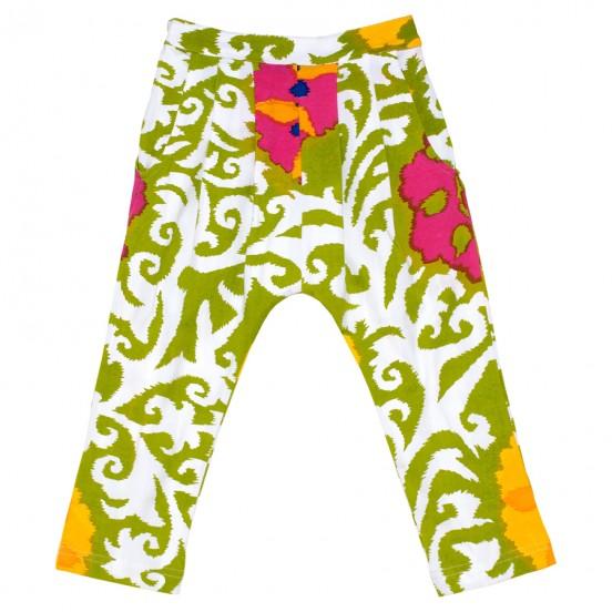 Suzani-Green-Capri-Leggngs-Pant